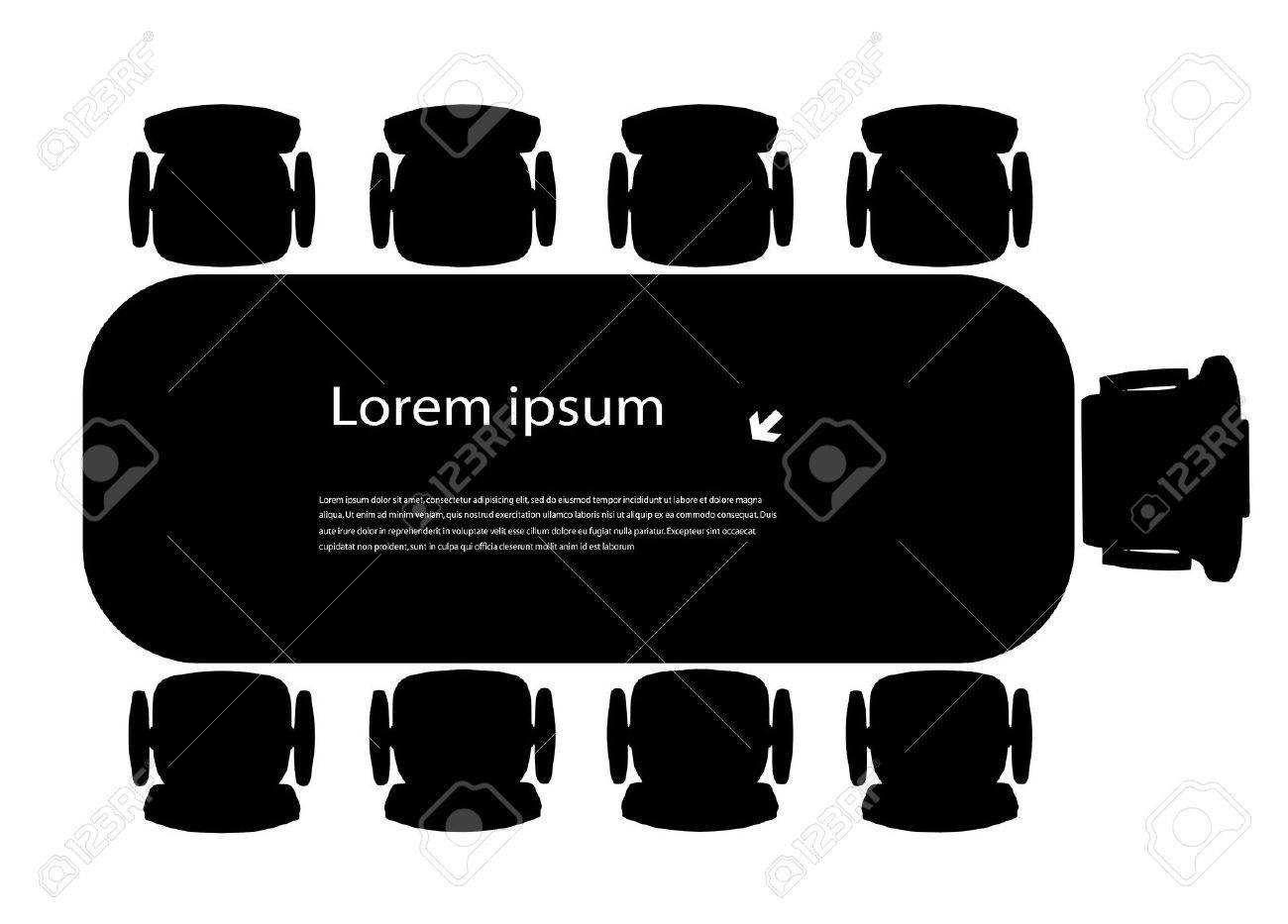 silhouette table for business meetings - 19026808