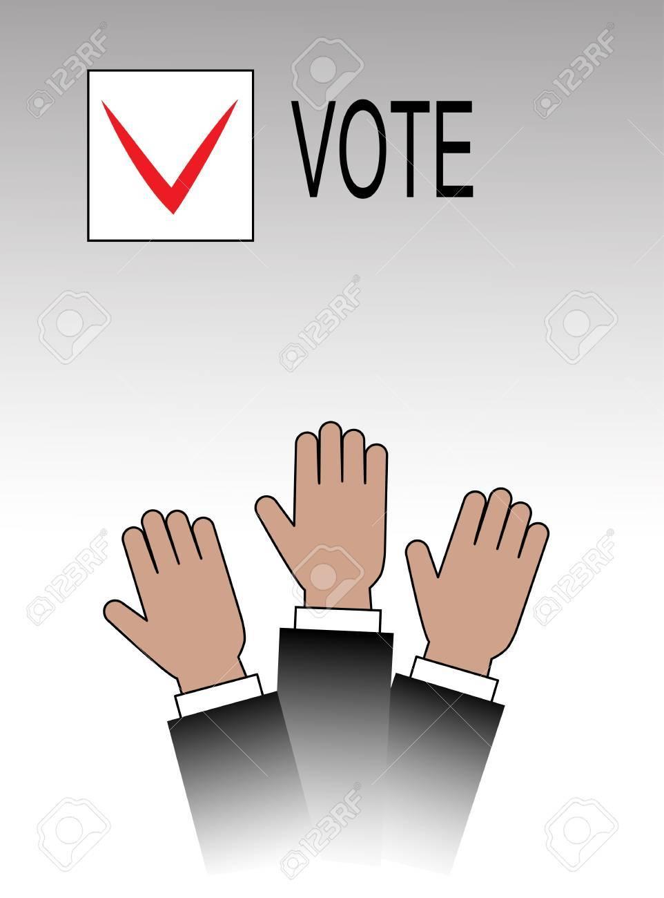 voting hands Stock Vector - 19796300