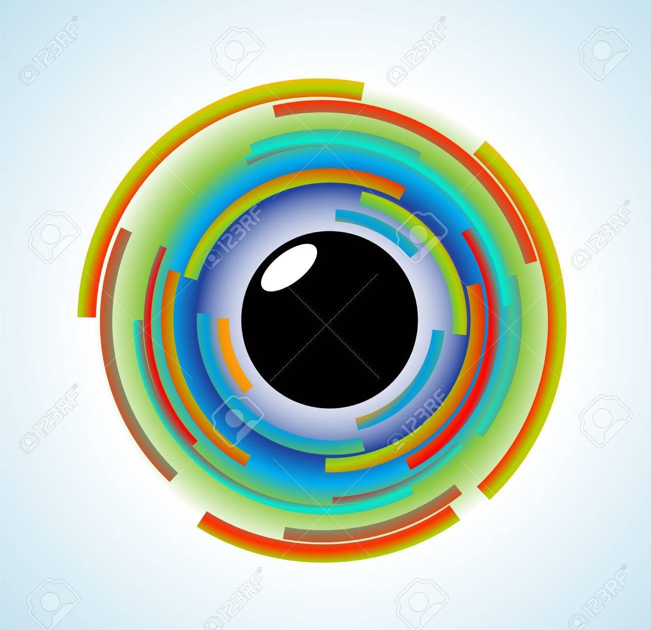 abstract symbol of a human eye Stock Vector - 20935626