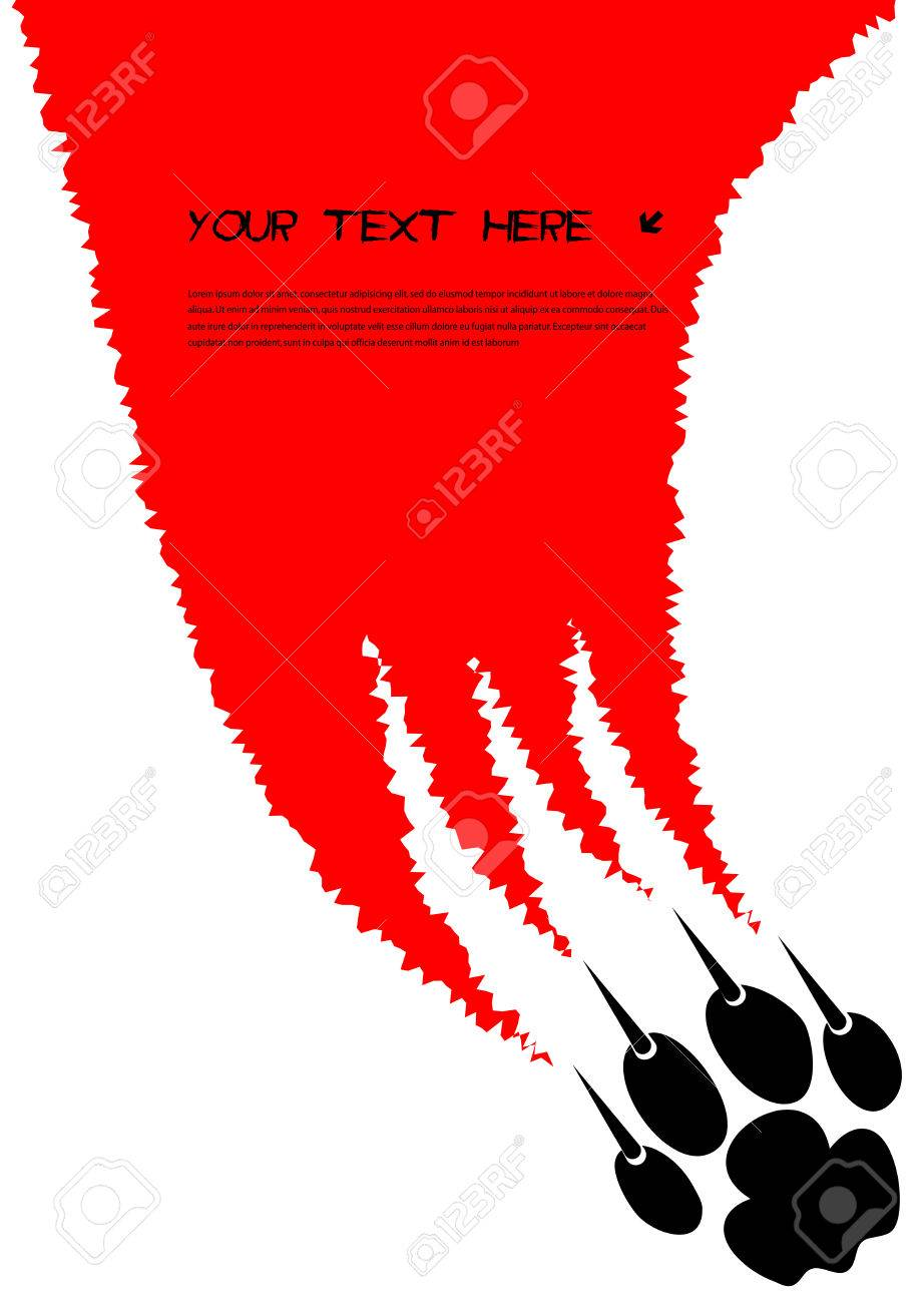 tearing claws predator with space for your text Stock Vector - 22268808