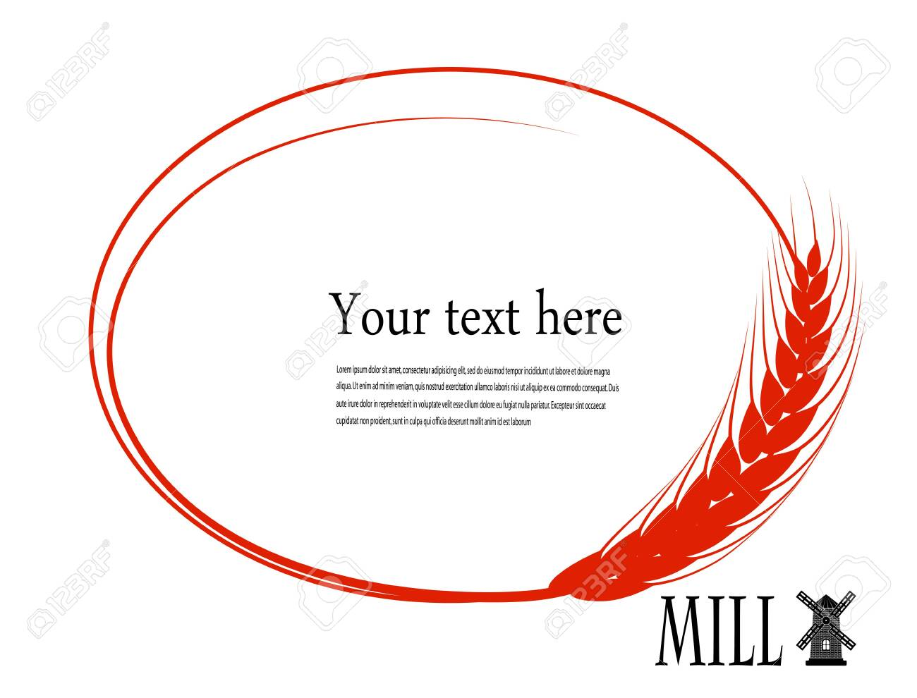 bubble to the text of the wheat ear Stock Vector - 27240697