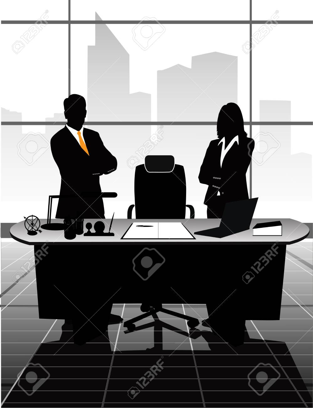 businessman in the office Stock Vector - 28401329