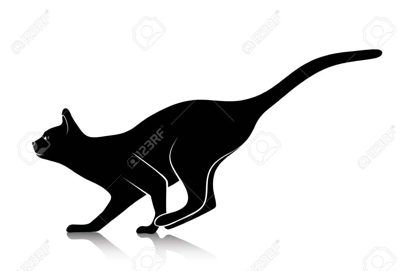 Dessin Chat De Profil silhouette of a playing cat royalty free cliparts, vectors, and
