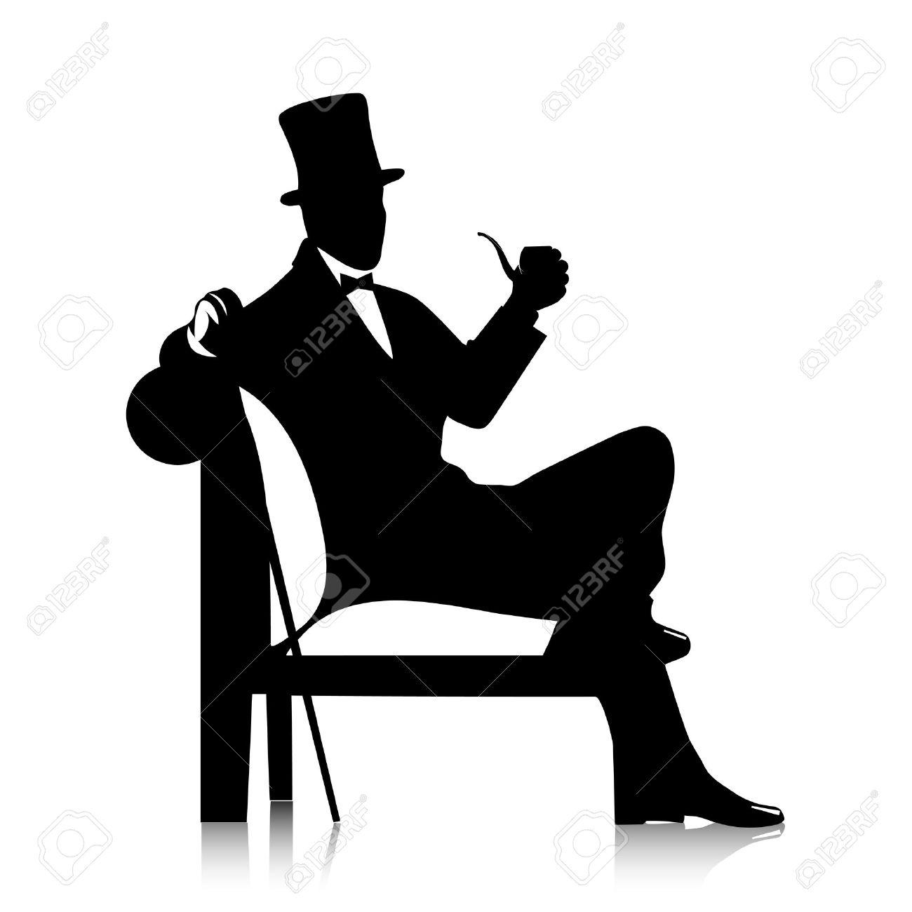 gentleman silhouette - 31577890