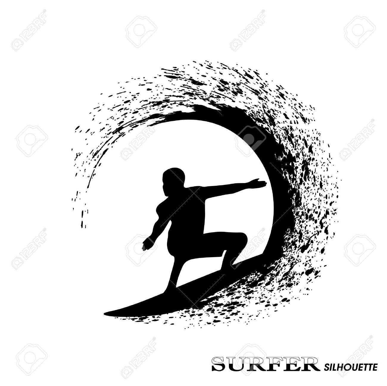 Surfing Clipart Black And White - Surfer Clip Art , Free Transparent Clipart  - ClipartKey