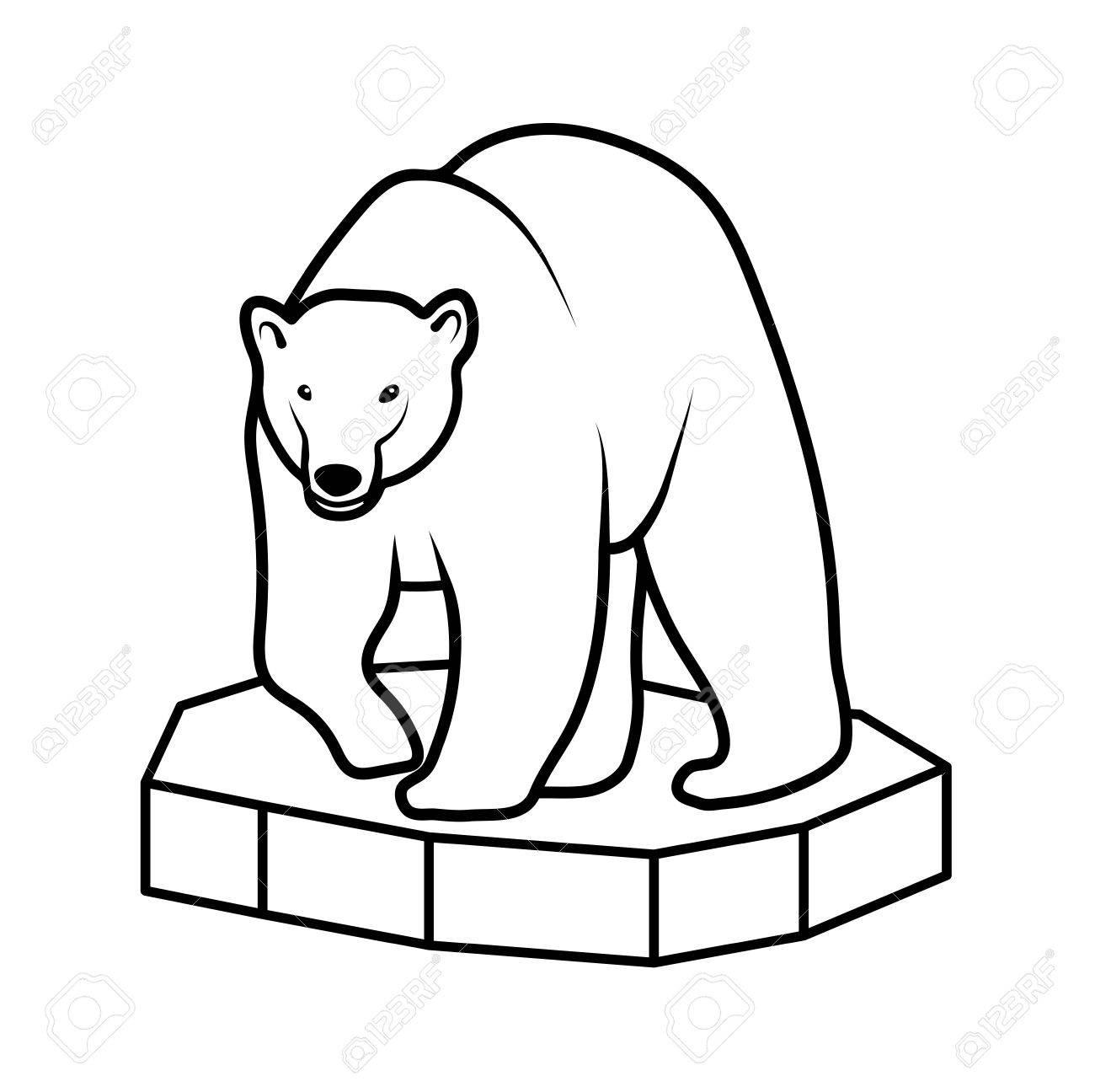 polar bear on an ice floe royalty free cliparts vectors and