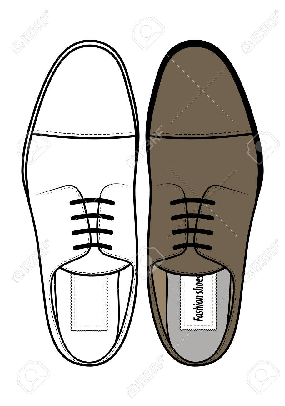 fashion shoes top view royalty free cliparts vectors and stock rh 123rf com Horse Shoe Vector Horse Shoe Vector