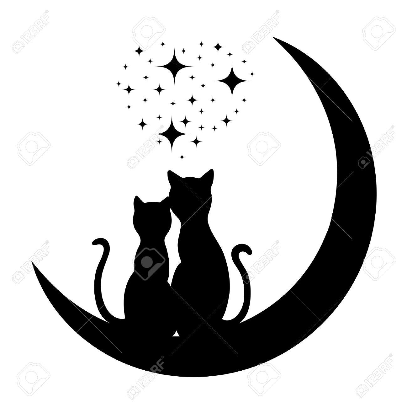 dibujos de enamorados gatos en el amor