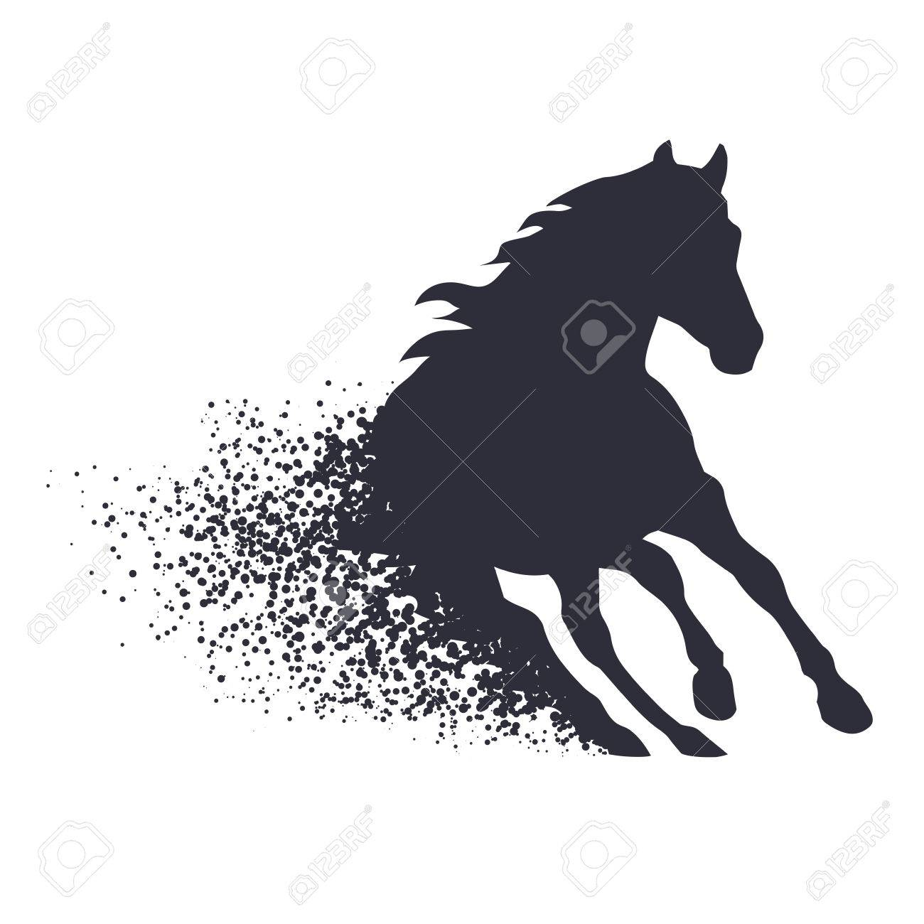 Running Horse In The Grunge Style Royalty Free Cliparts Vectors And Stock Illustration Image 40859367