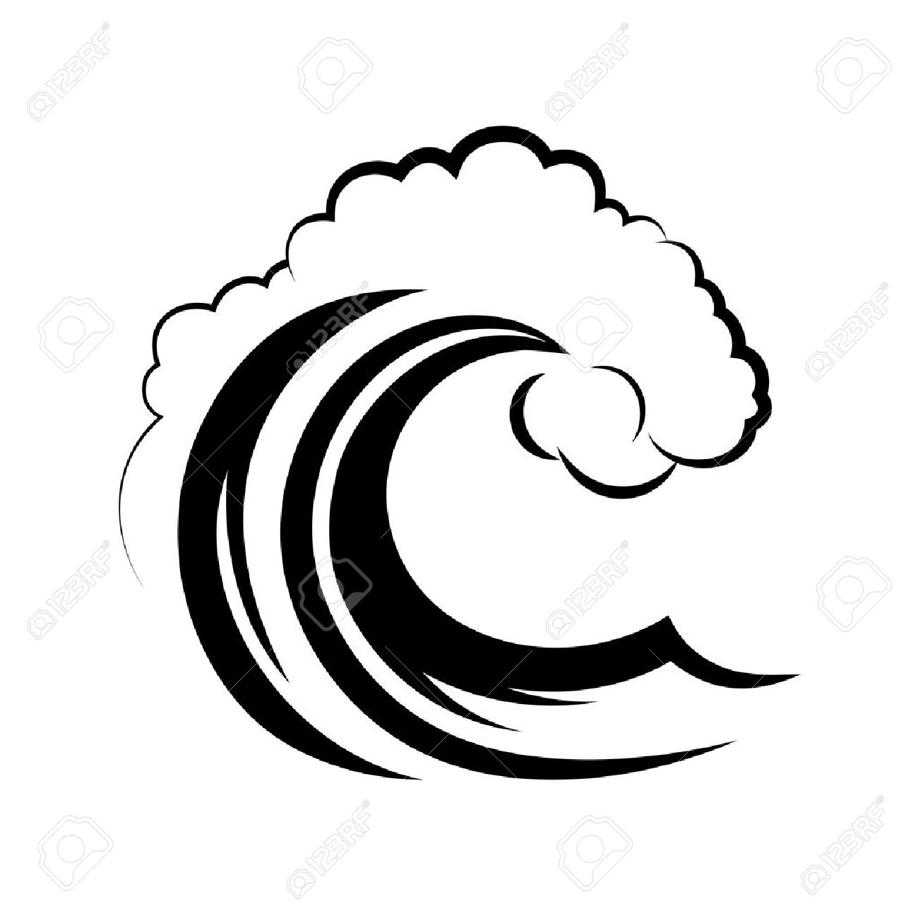 ocean wave on a white background royalty free cliparts vectors and rh 123rf com ocean wave vector illustrator ocean wave vector free download