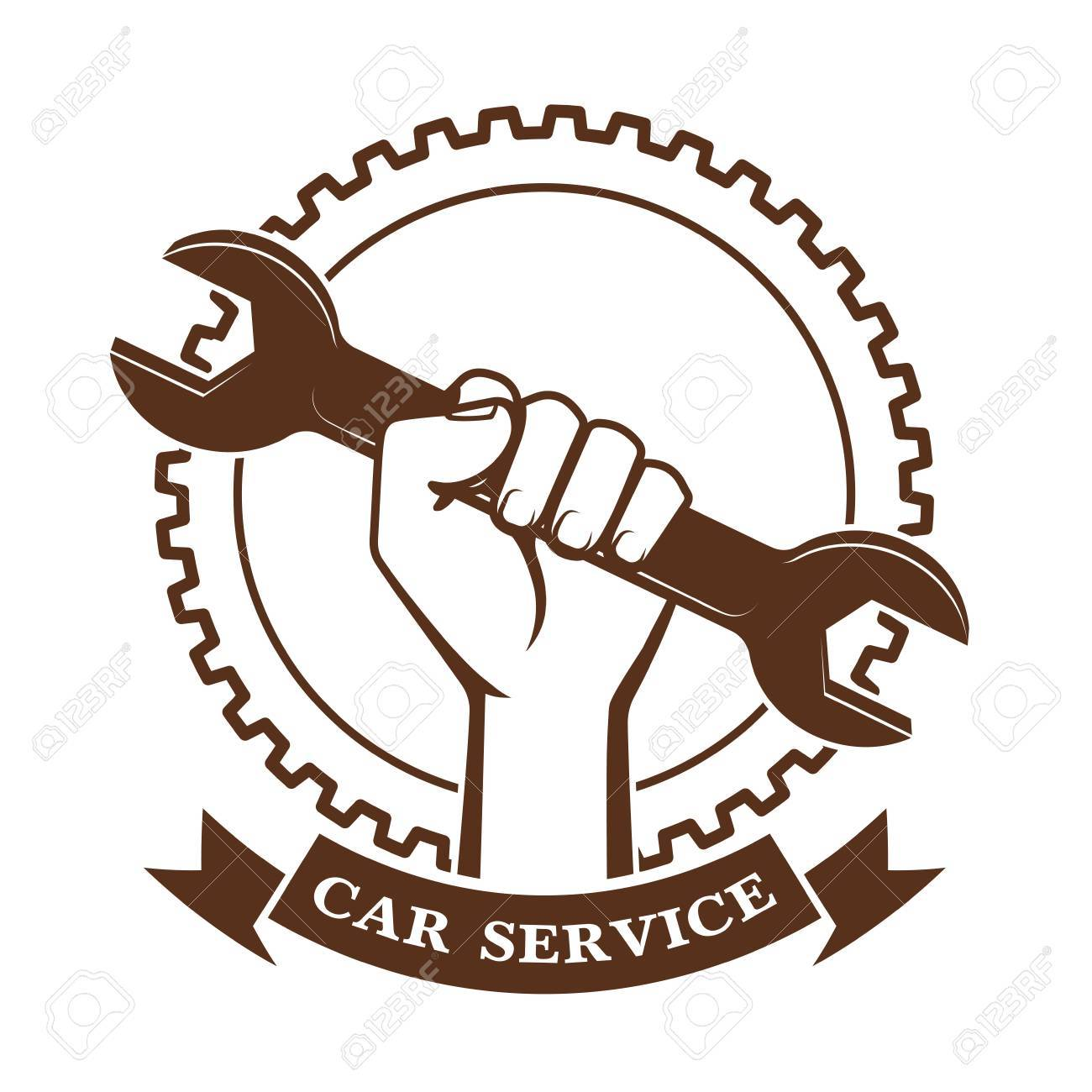 Wrench in a hand a symbol of car service royalty free cliparts wrench in a hand a symbol of car service stock vector 64271259 biocorpaavc Choice Image