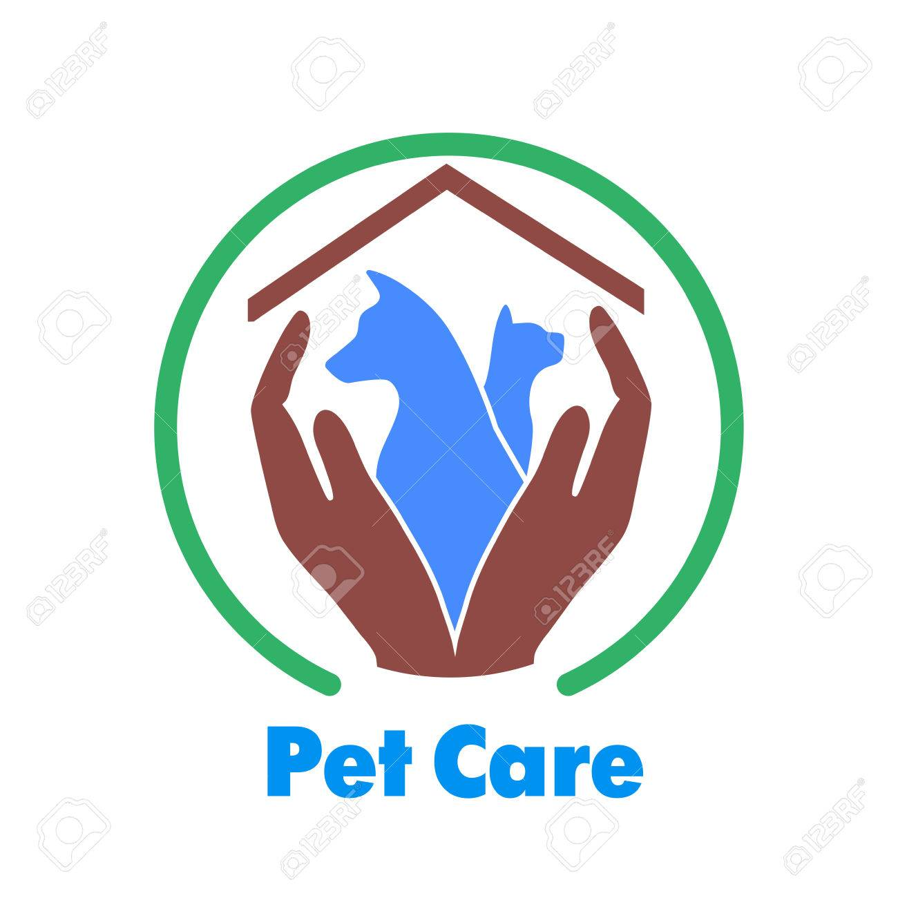 Logo Care Of Animals Symbol Of Protection Of Vagrant Animals