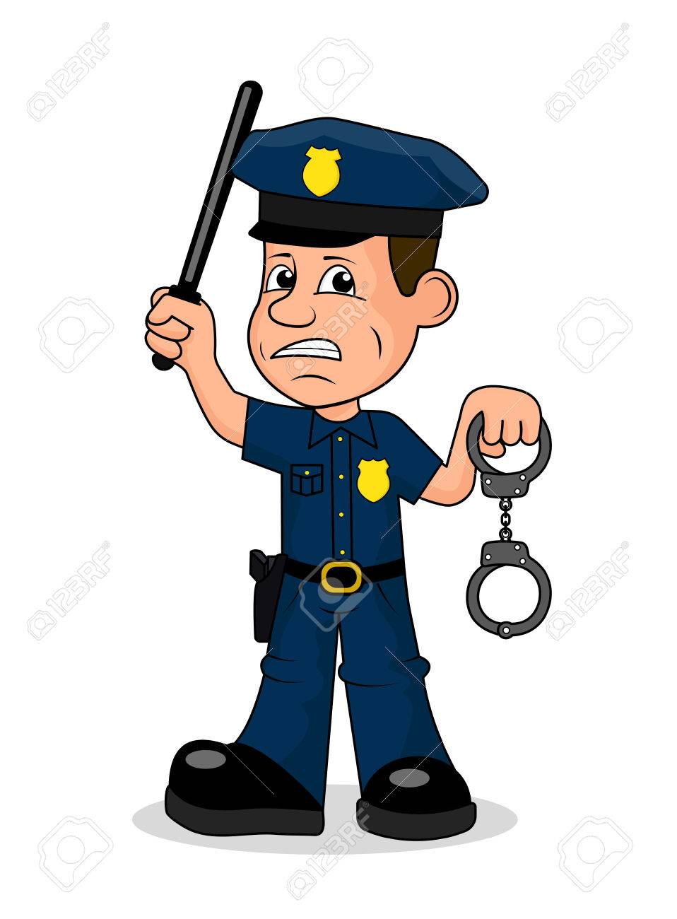 angry police officer vector illustration royalty free cliparts rh 123rf com police victorville police vector art