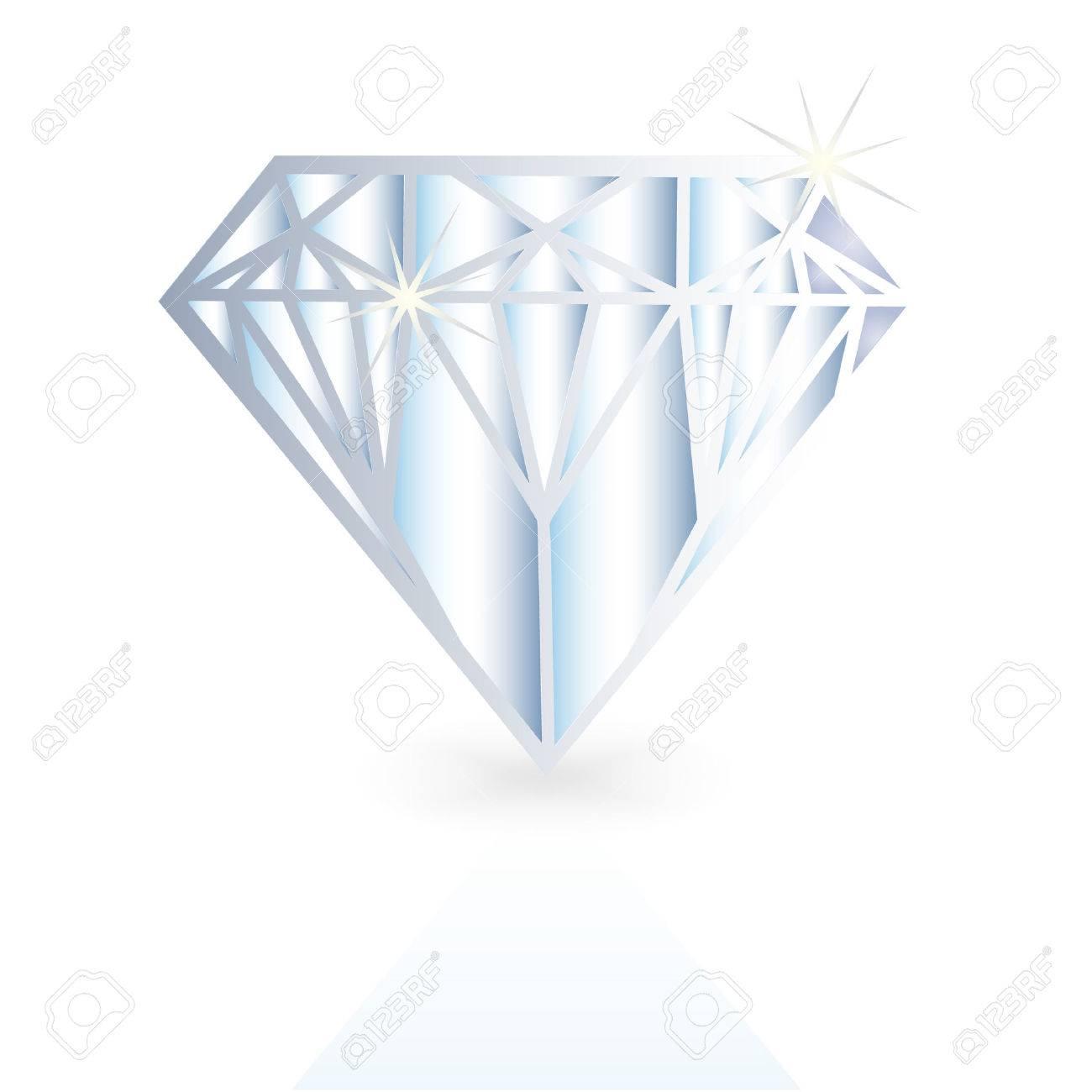diamond , crystal vector illustration Stock Vector - 4031275