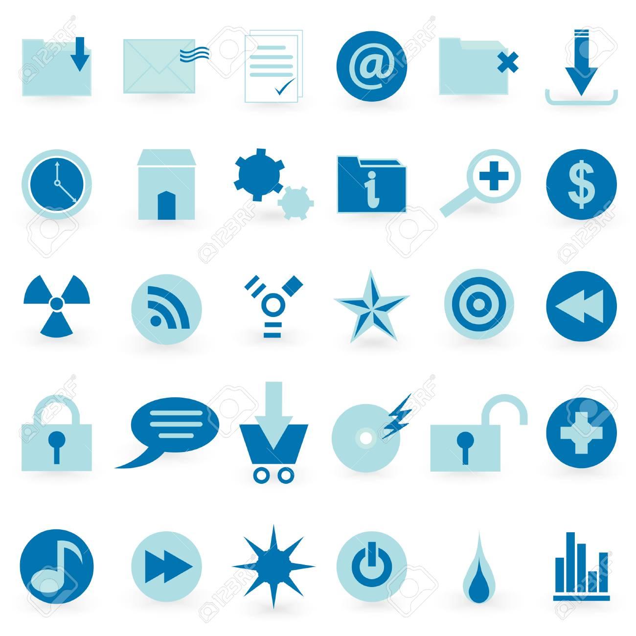 WEB icon and symbol  Vector set Stock Vector - 4061793