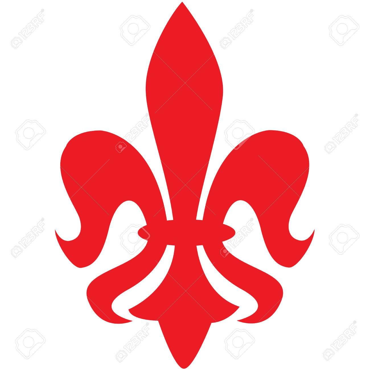 Red Fleur De Lys Symbol Royalty Free Cliparts Vectors And Stock