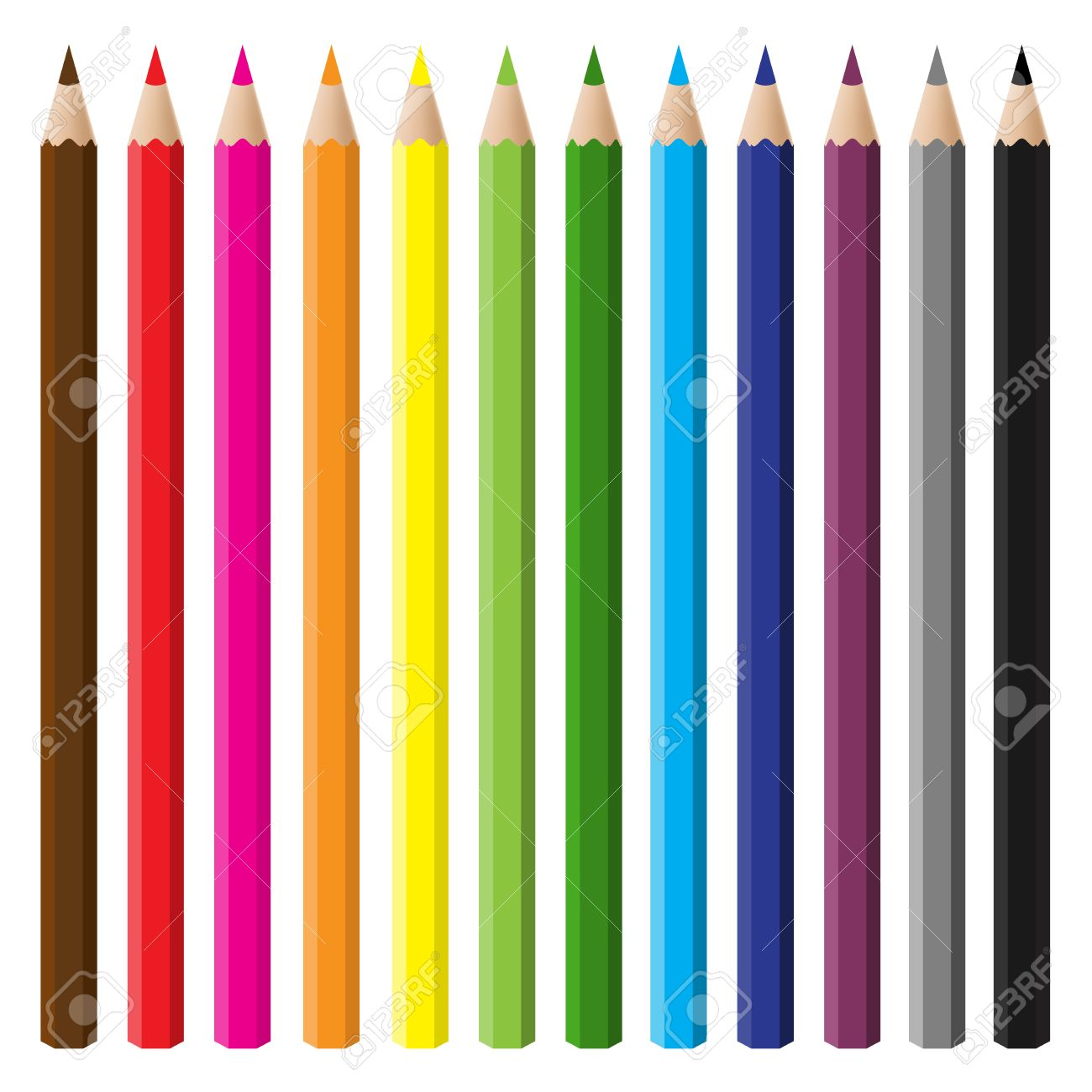 12 color pencil set Stock Vector - 4291346