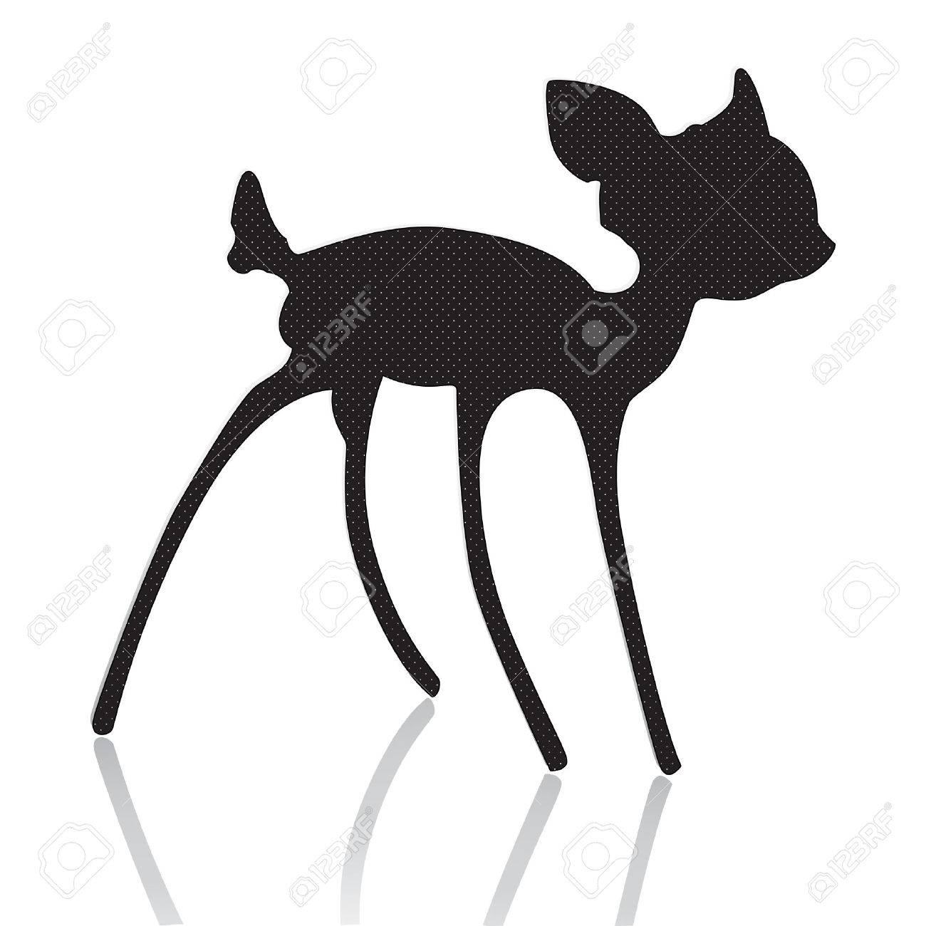 bambi silhouette vector illustration Stock Vector - 4792218