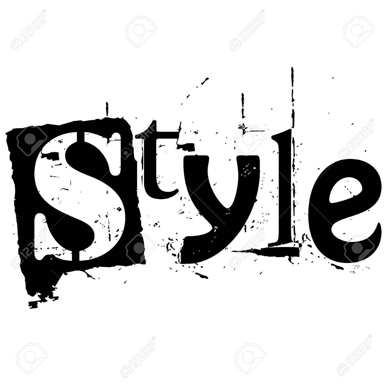 the word style written in grunge cutout style - 5227651