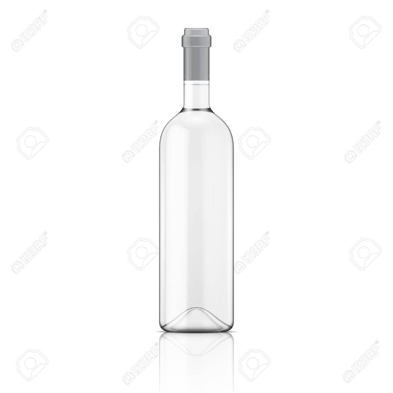 ガラス透明なワインのボトルベクトル イラストガラス瓶の