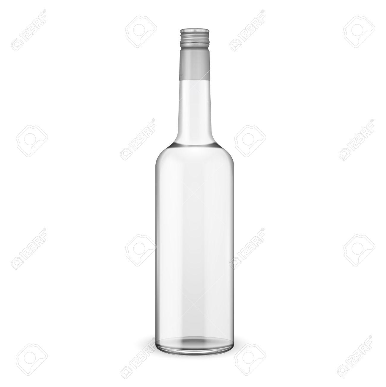 スクリュー キャップと瓶ウォッカベクトル イラストガラス瓶の