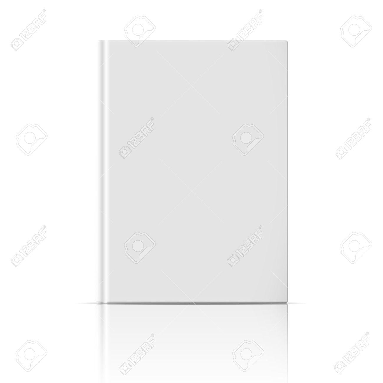 Blank Vertikale Buch-Cover-Vorlage, Die Auf Weißem Hintergrund Mit ...