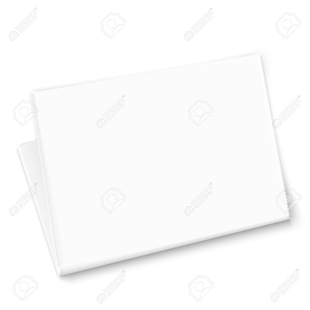 Plantilla De Periódico En Blanco Blanco Sobre Fondo Blanco ...