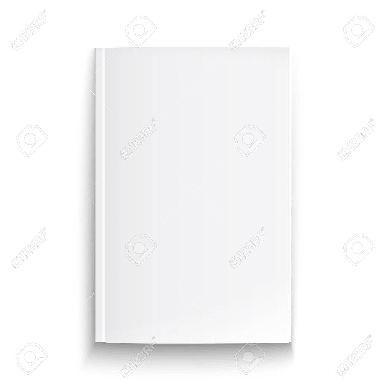 Blank magazine template on white background with soft shadows. Stock Vector - 23855256