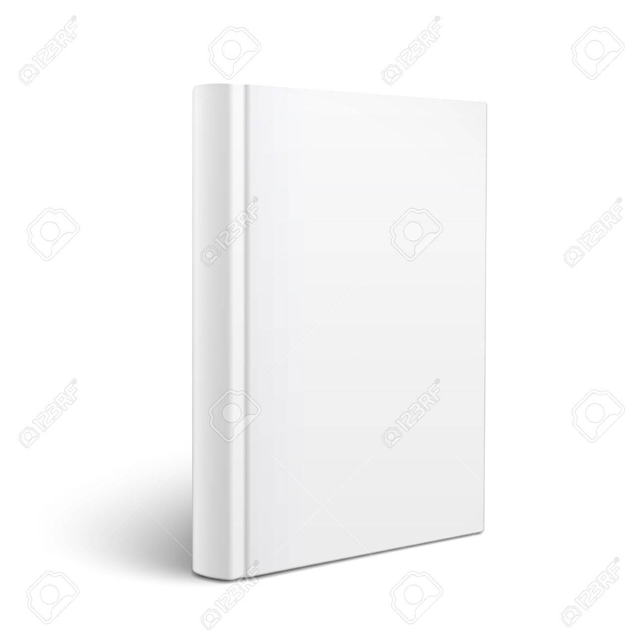 Blank Vertical Book Cover Template Standing On White Surface ...