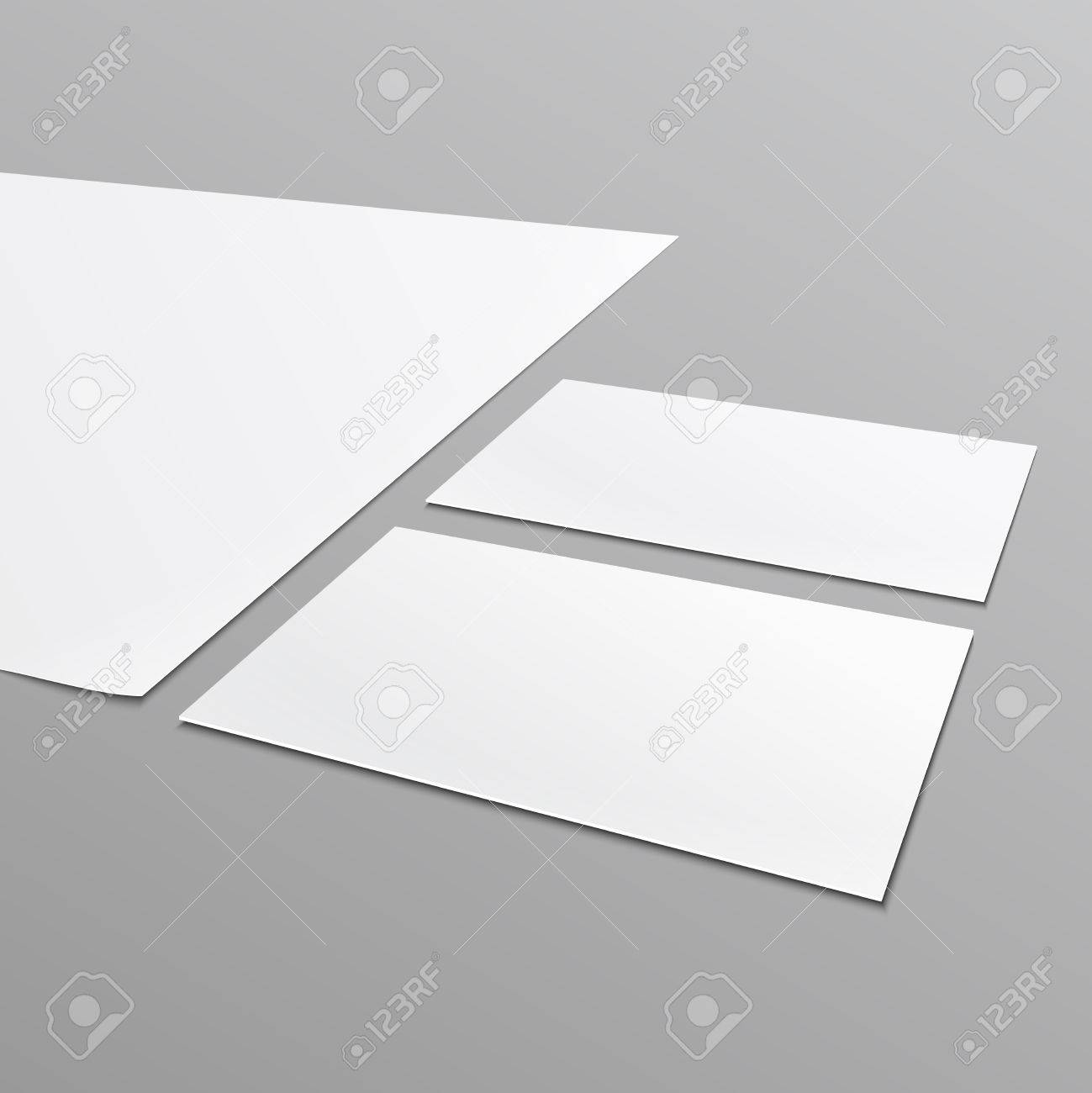 Blank Stationery Layout^ A4 Paper, Business Card Isolated On ...