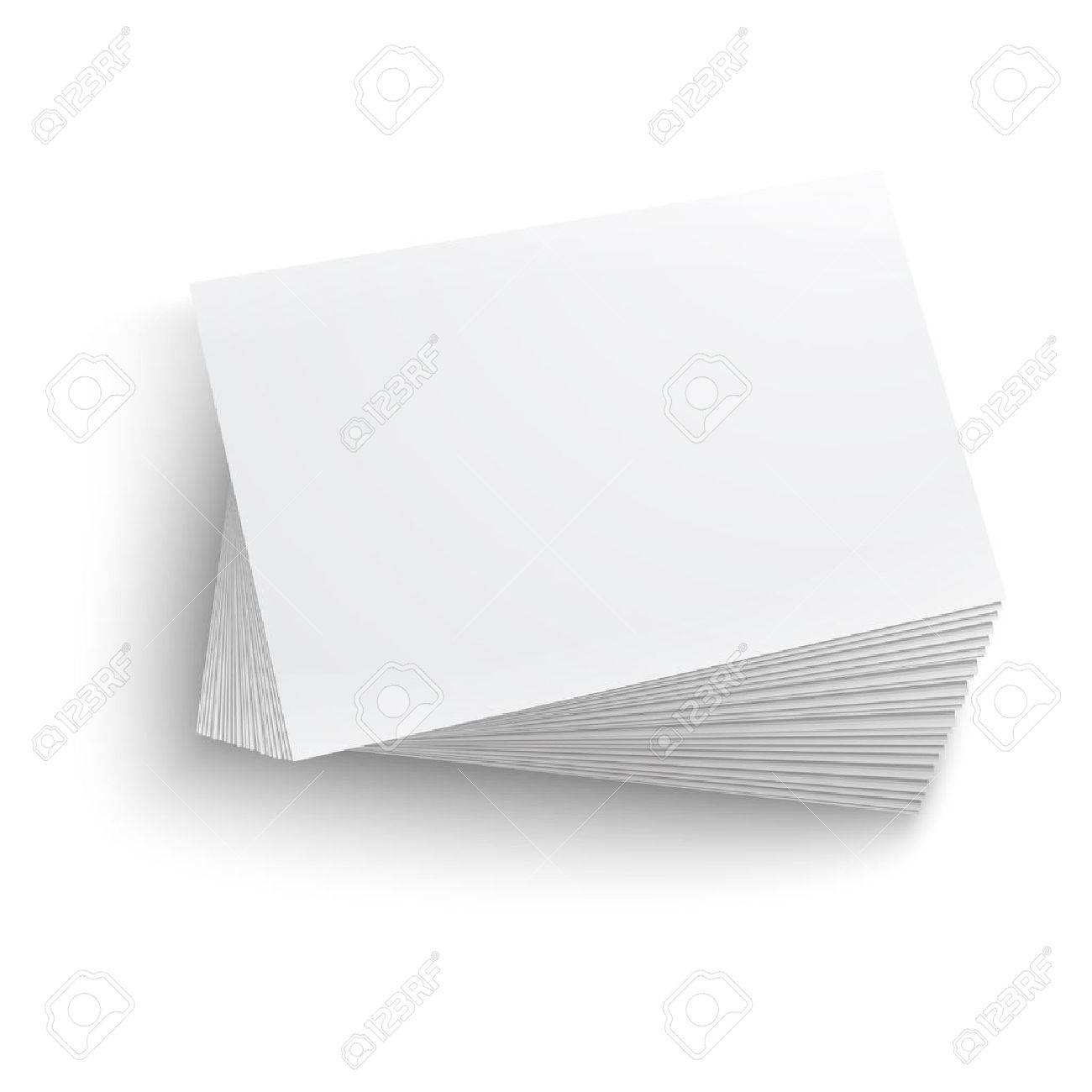Twisted stack of blank business card on white background with twisted stack of blank business card on white background with soft shadows vector illustration reheart Images
