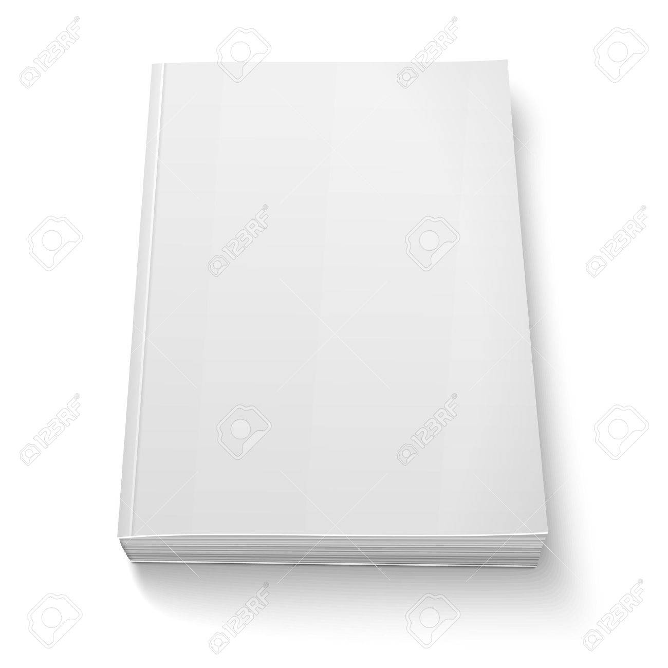 blank softcover book template on white royalty free cliparts