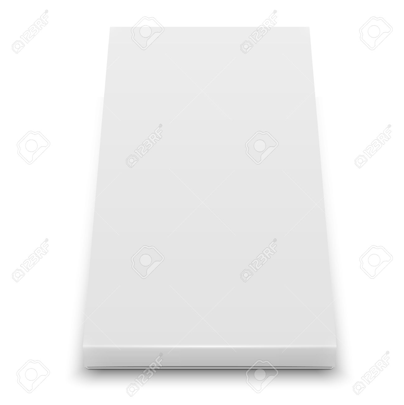 White Slim Cardboard Box Template For Chocolate, Crayons, Pencils ...