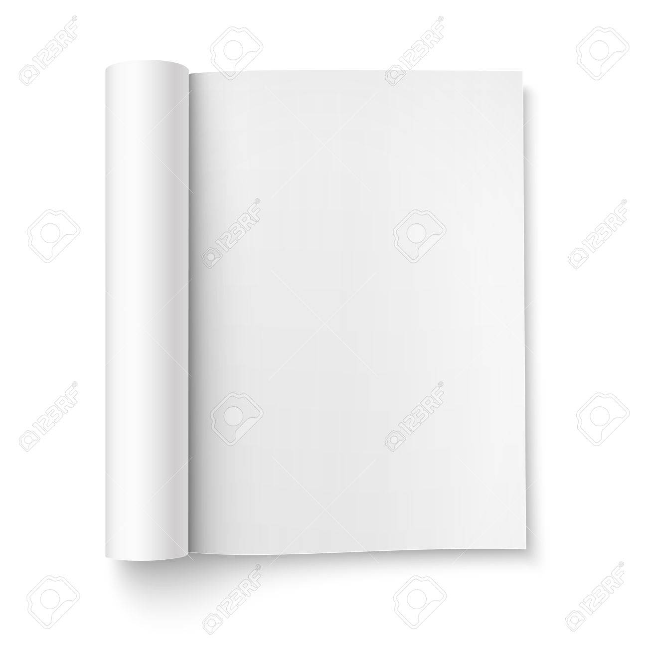 Great Blank Magazine Template Photos Set Of Album And Magazine