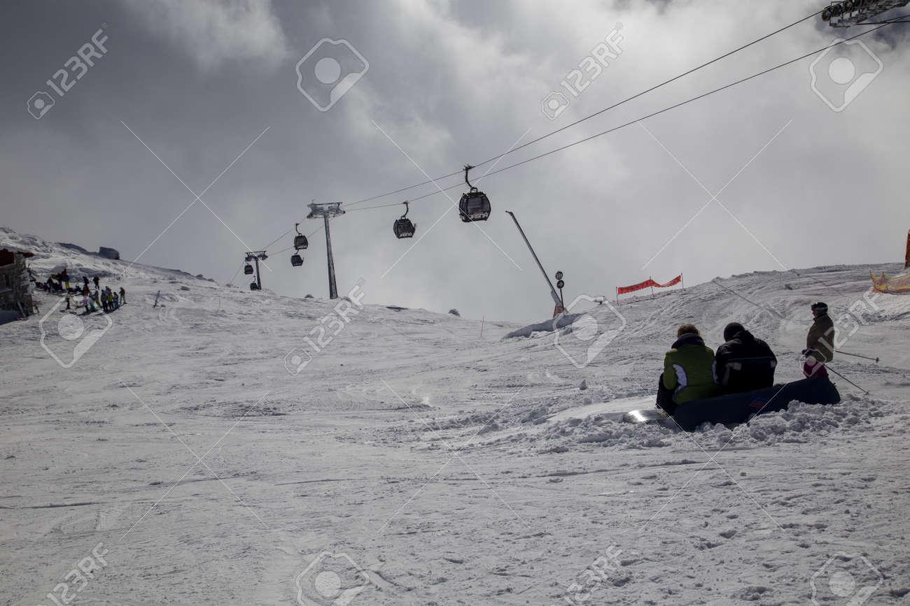 snow mountain Slovakia ski winter Jasna Europa - 164662399