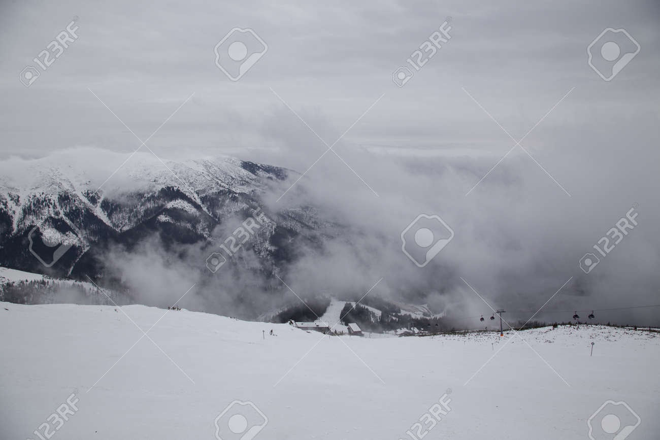 snow mountain Slovakia ski winter Jasna Europa - 164717391