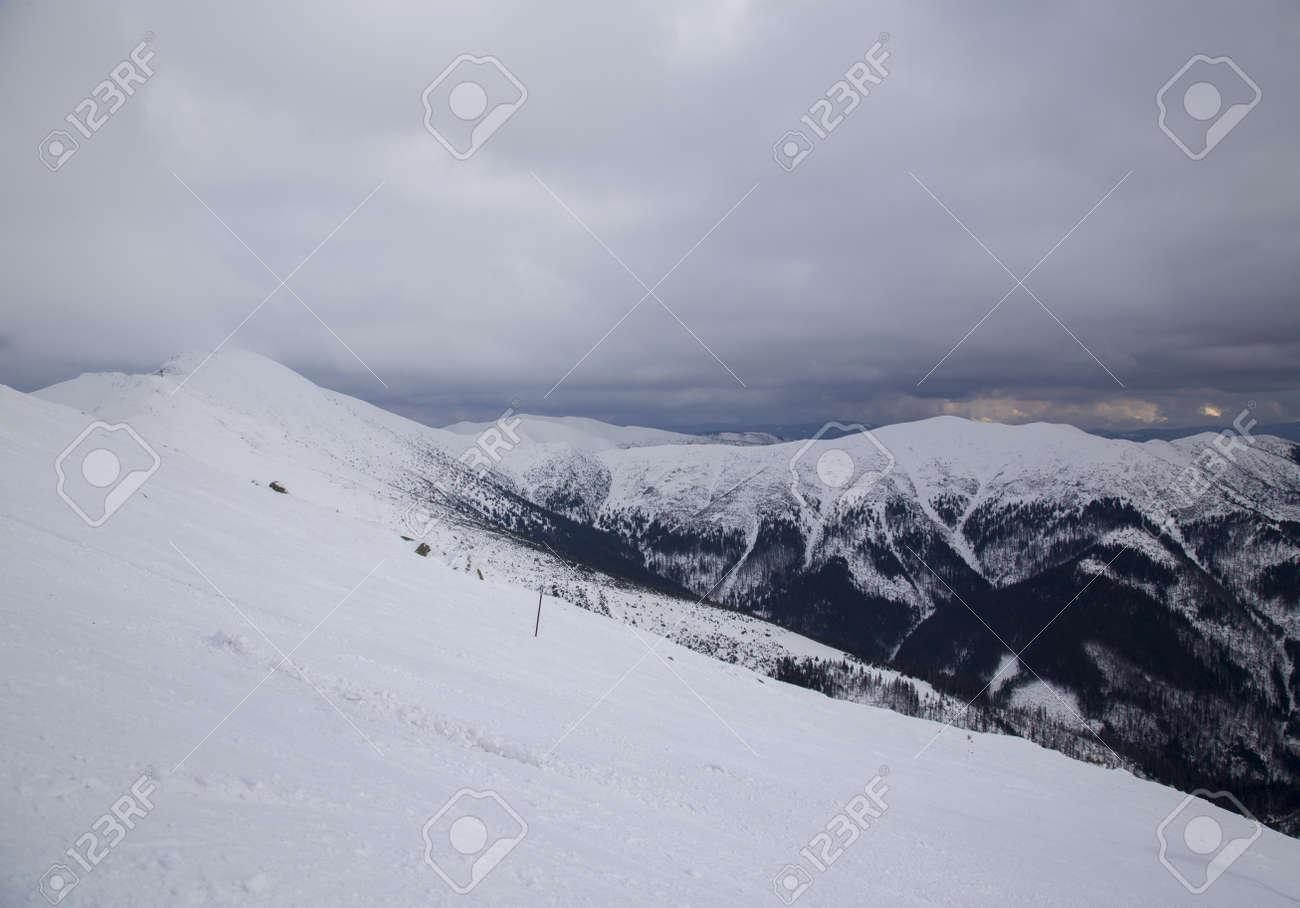 snow mountain Slovakia ski winter Jasna Europa - 164717068