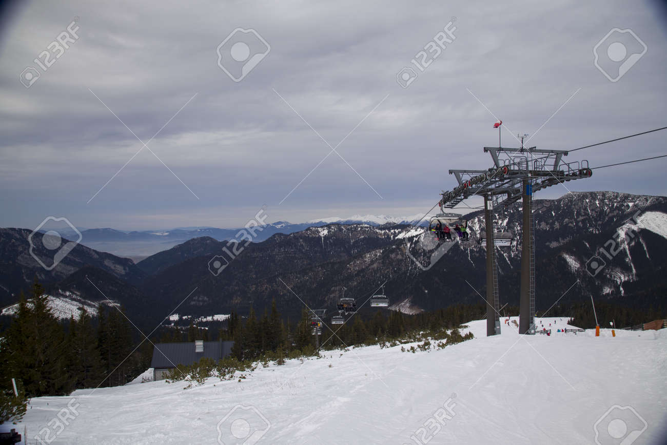 snow mountain Slovakia ski winter Jasna Europa - 164717670