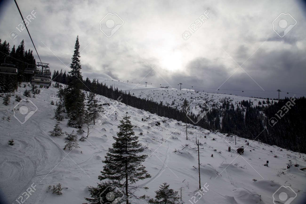 snow mountain Slovakia ski winter Jasna Europa - 164717675