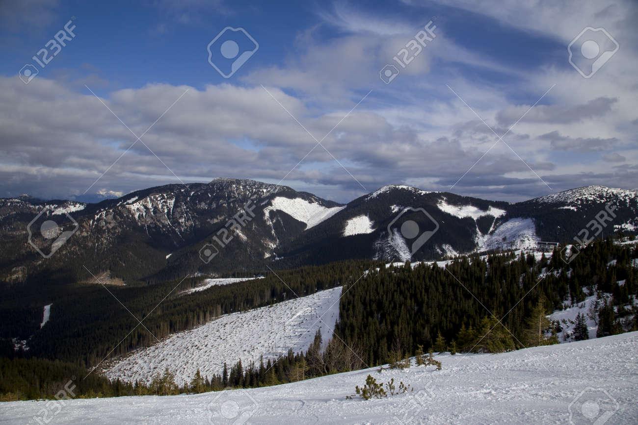 snow mountain Slovakia ski winter Jasna Europa - 164717216