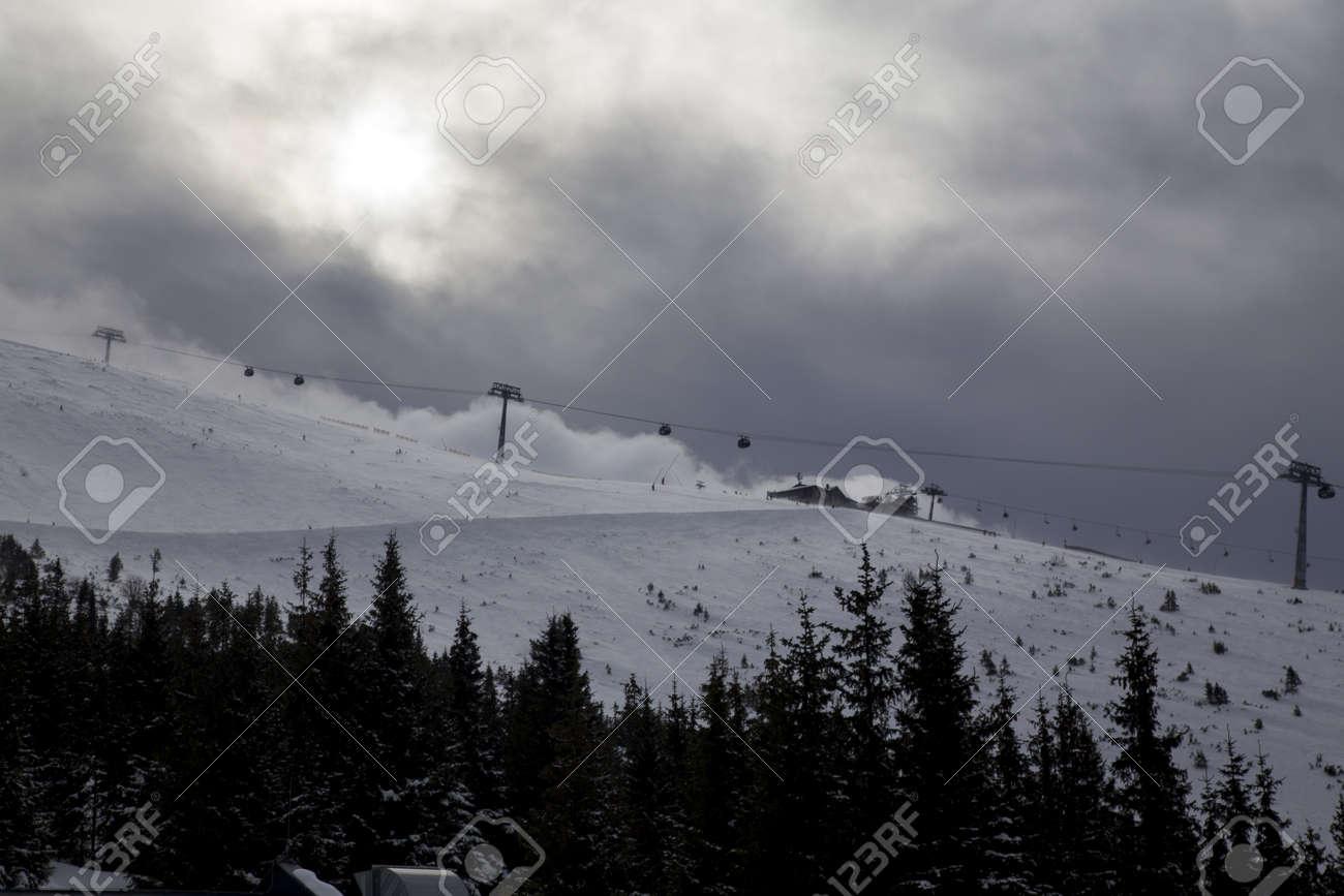 snow mountain Slovakia ski winter Jasna Europa - 164717653