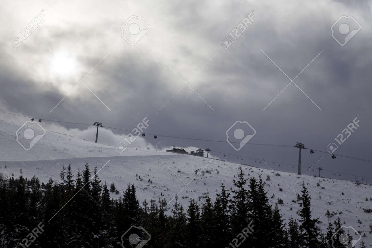 snow mountain Slovakia ski winter Jasna Europa - 164717624