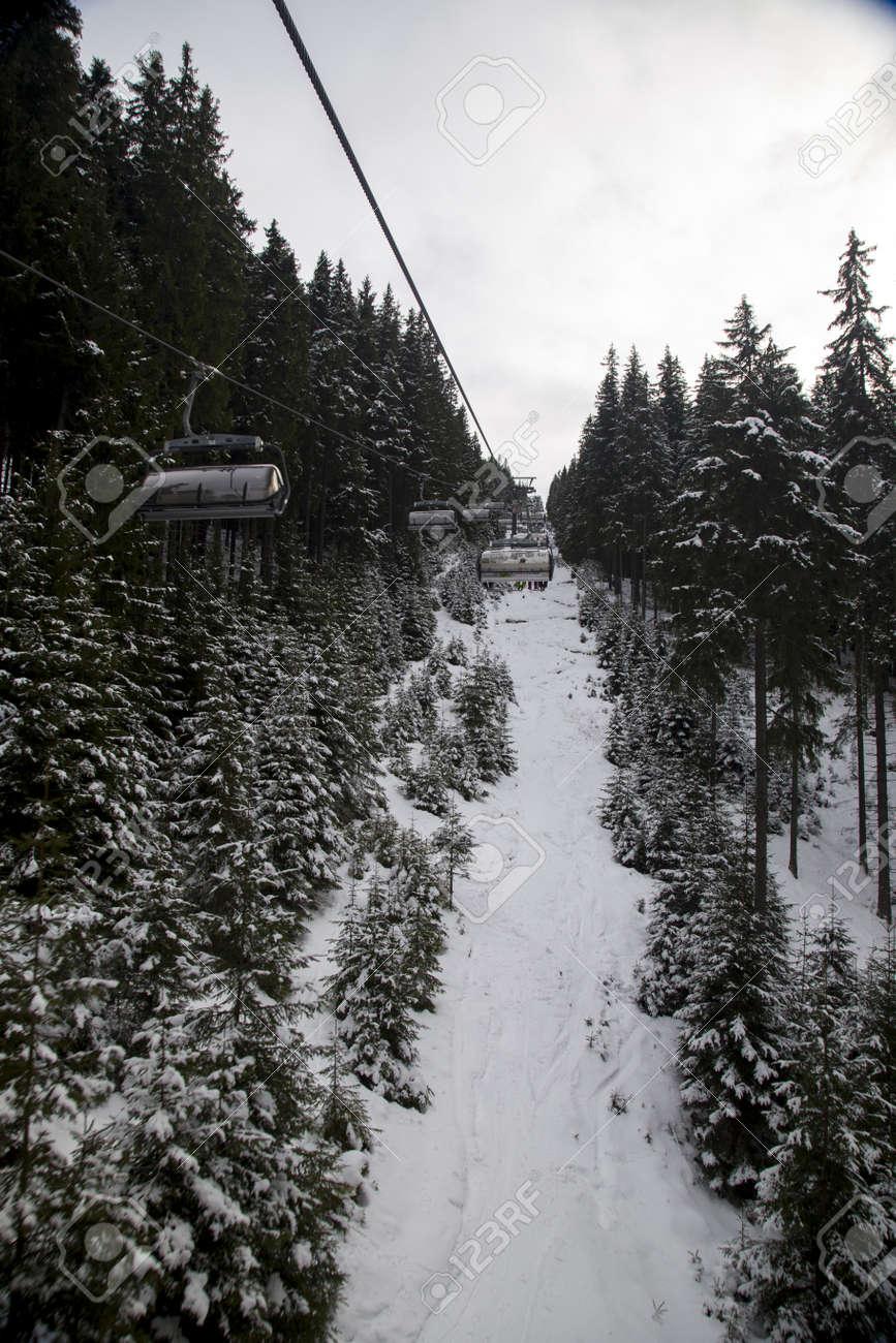 snow mountain Slovakia ski winter Jasna Europa - 164716979