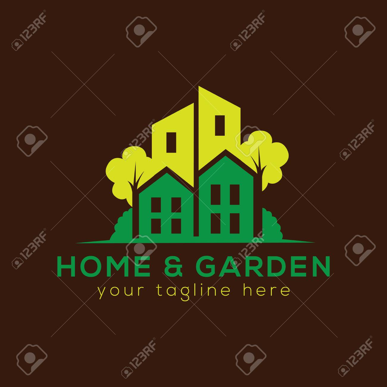 Home And Garden Logo Vector Stock Photo, Picture And Royalty Free ...