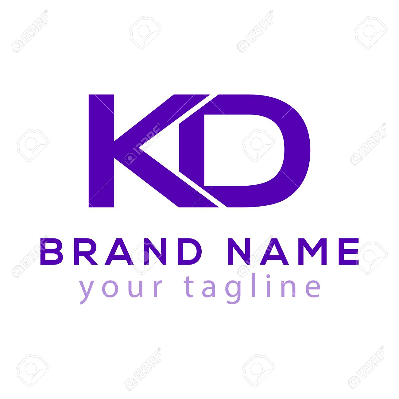 K D Initial Letter icon Element. K D Initial Template - 104551474