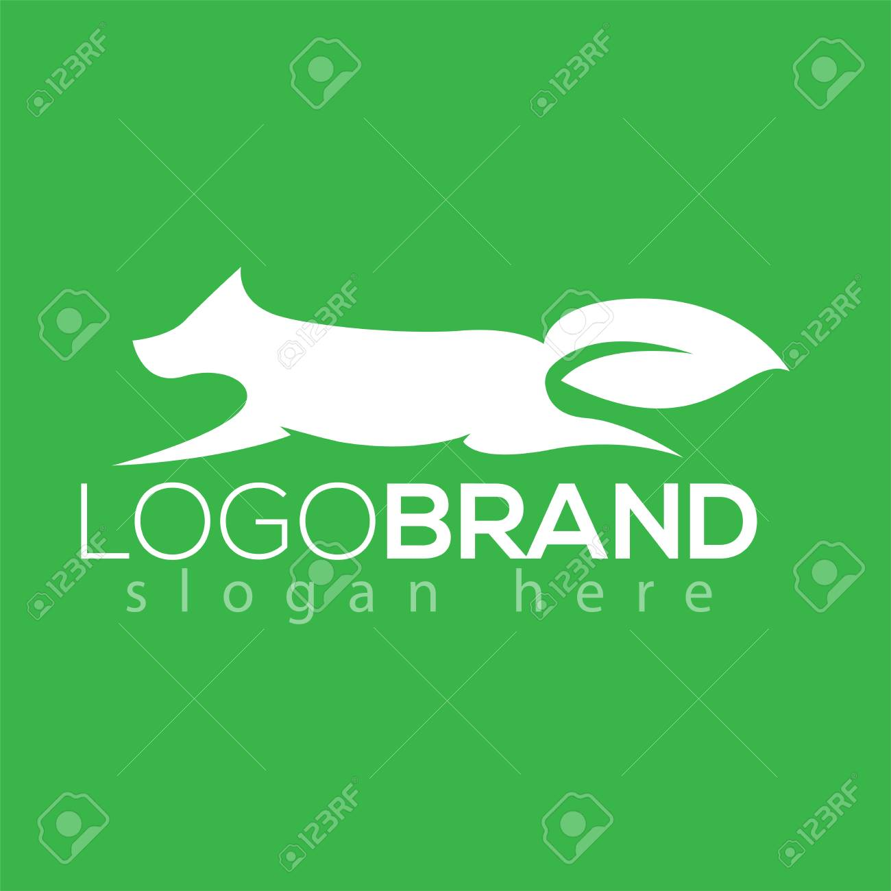 Vector Wolf And Leaf Tail Logo Silhouette Element Animal Template Jpg 1300x1300 Donkey