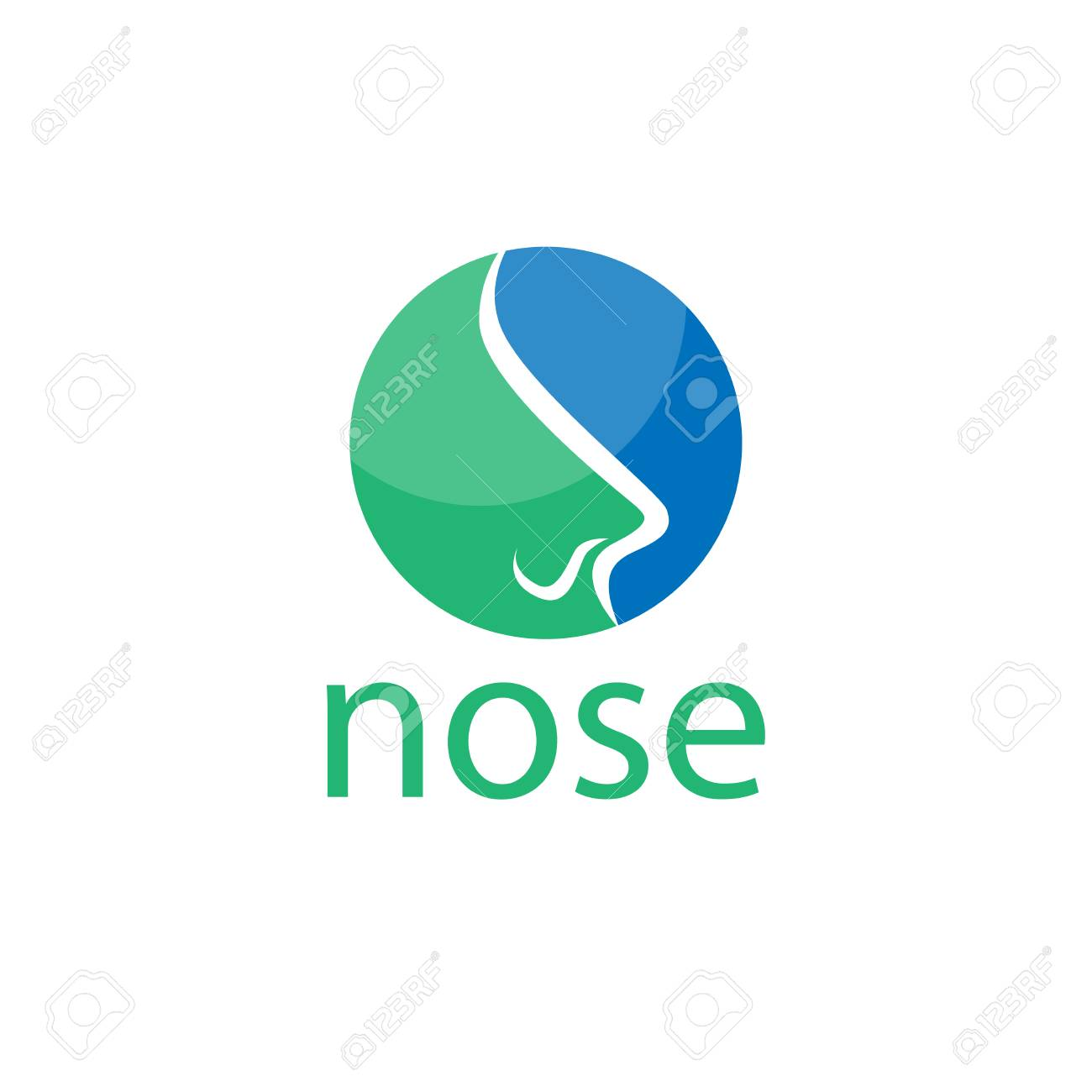 nose abstract logo vector element nose logo template royalty free