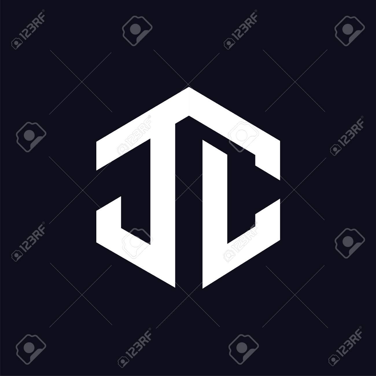 J C Initial letter hexagonal logo vector - 107106105