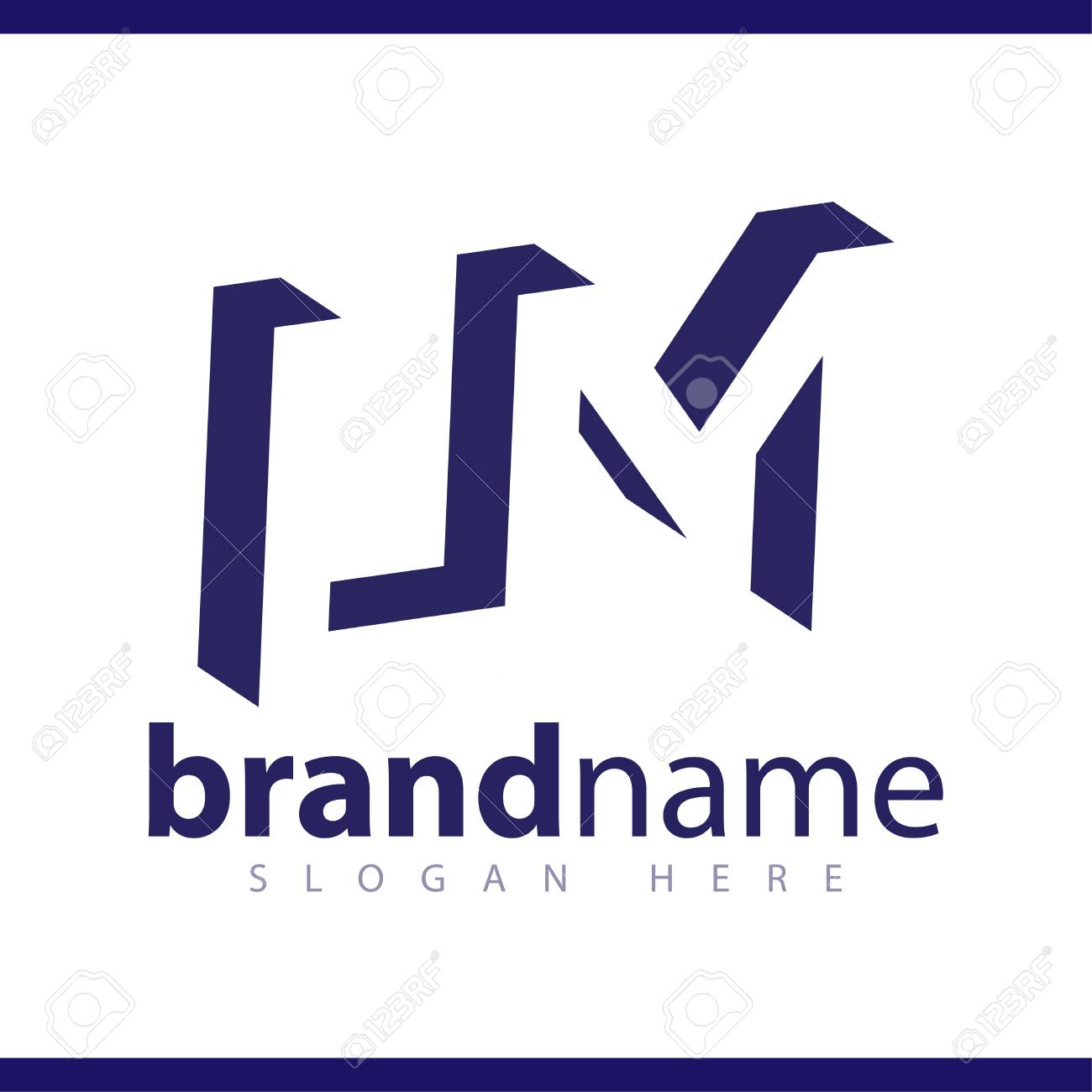 L M initial letter with negative space logo icon vector template - 113966506