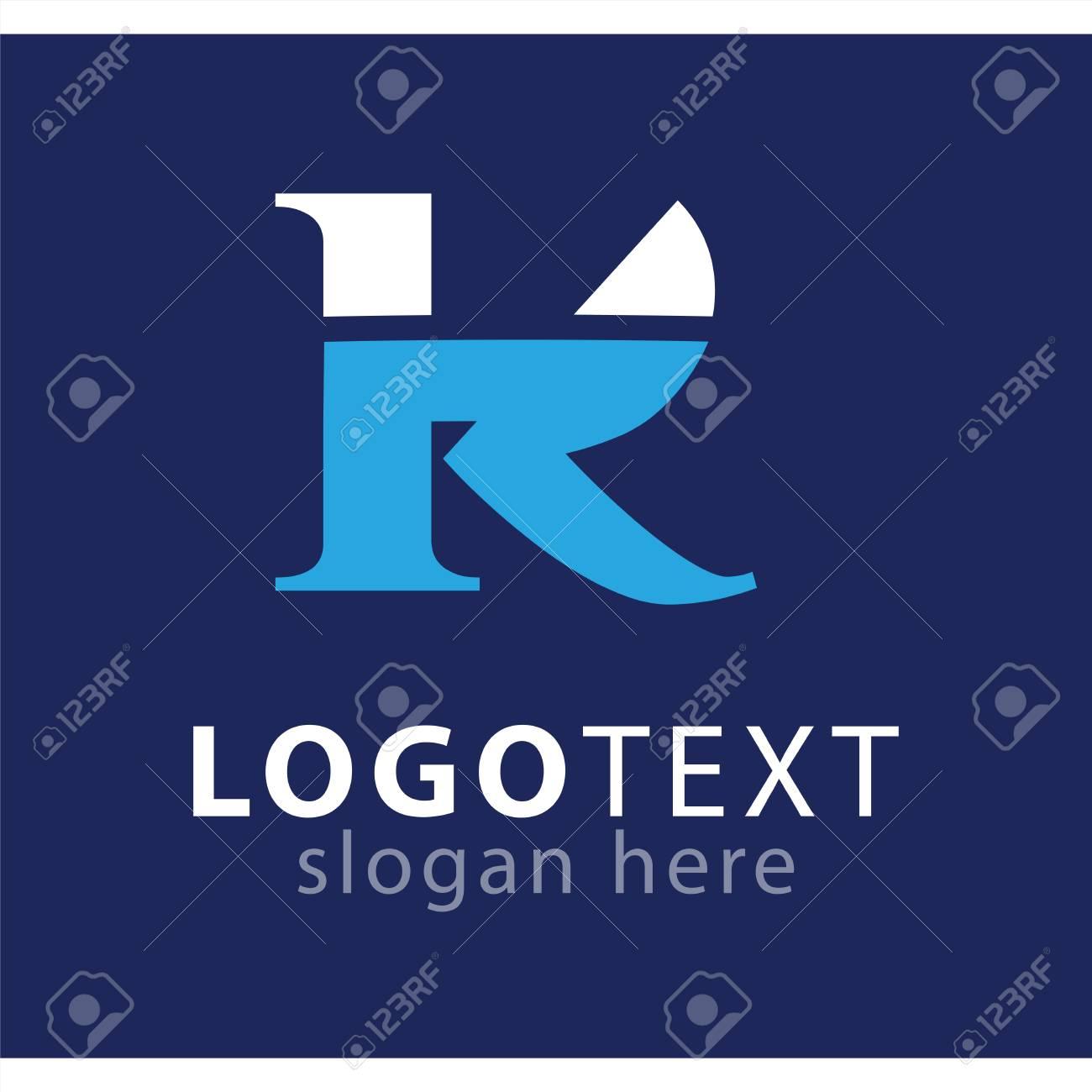 kr initial letter logo vector template - 113967112